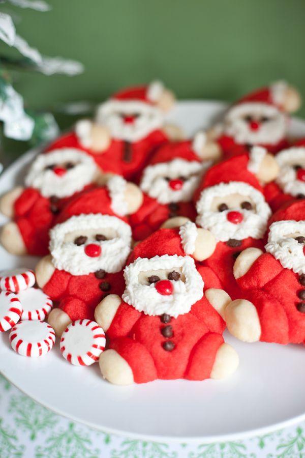 Roly Poly Santa Cookie Recipe Food Art Pinterest Santa