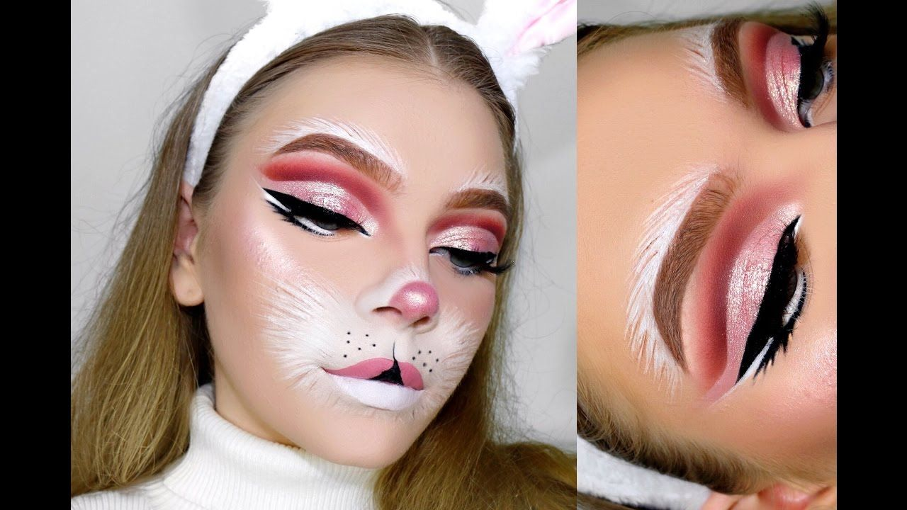I Hope You Guys Enjoyed Don T Forget To Leave A Comment Requesting Any Other Specific Halloween Looks Bunny Halloween Makeup Bunny Makeup White Rabbit Makeup