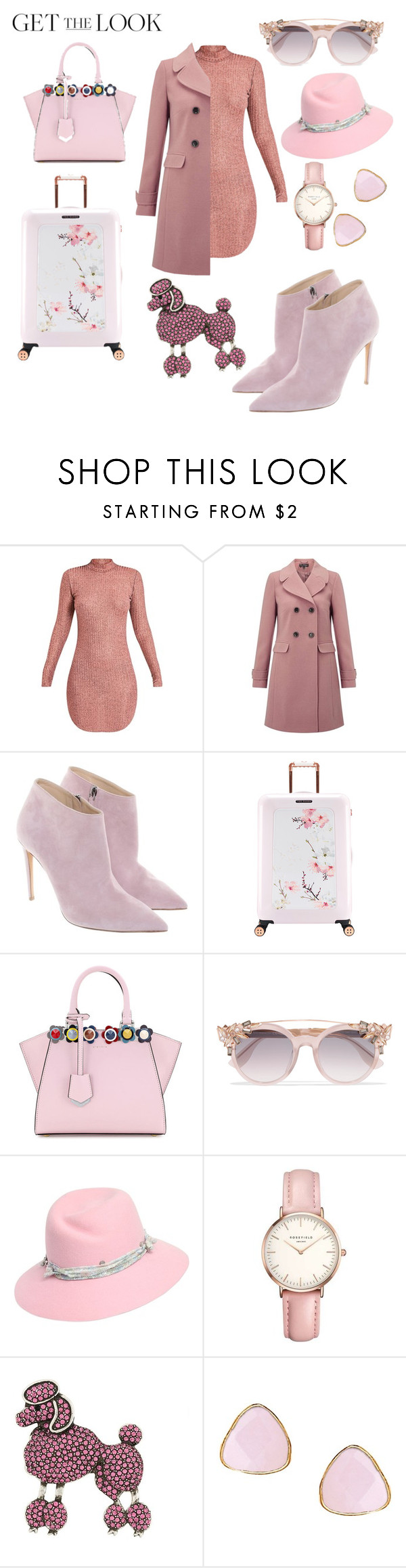 """""""Winter getaway"""" by putxzzahra ❤ liked on Polyvore featuring Miss Selfridge, Ralph Lauren, Ted Baker, Fendi, Jimmy Choo, Maison Michel, Topshop, Marc Jacobs and Ottoman Hands"""