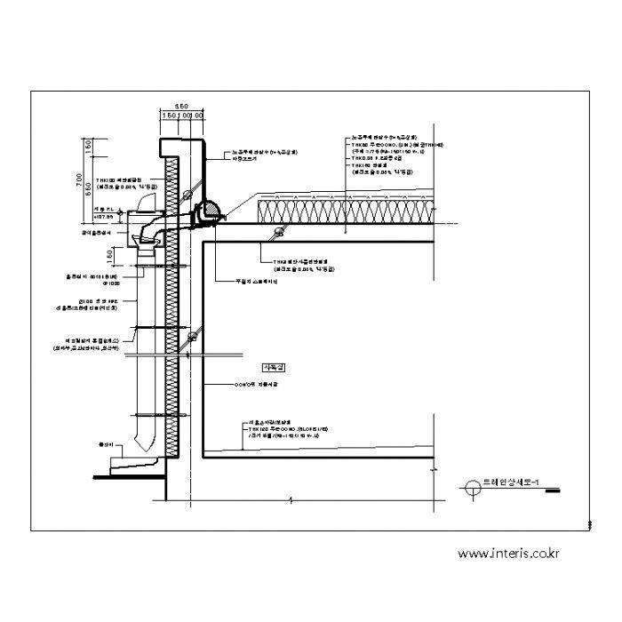 건축캐드 상세도 원장님 Floor Plans Diagram 및 Construction