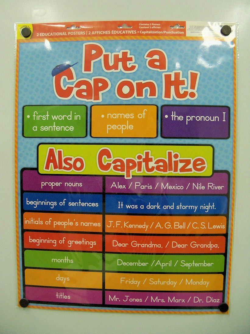 Capitalization rules streamlined kindergarten pinterest capitalization rules streamlined spiritdancerdesigns Image collections