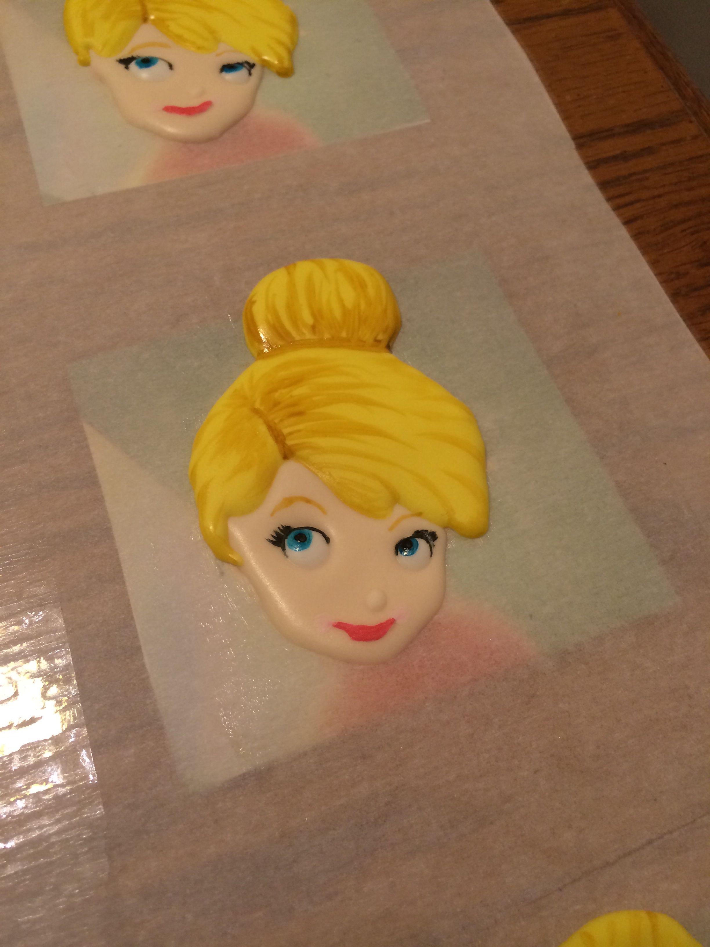 Tinkerbell royal icing transfers   flores de açúcar   Pinterest ...