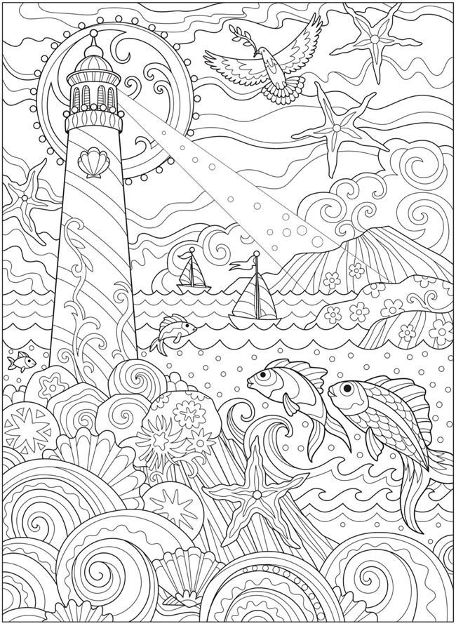 welcome to dover publications ch fanciful sea life coloring books ocean coloring pages. Black Bedroom Furniture Sets. Home Design Ideas