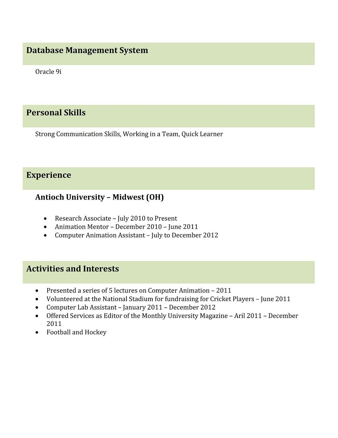 Download Resume Templates Free For Freshers Looking The First Job