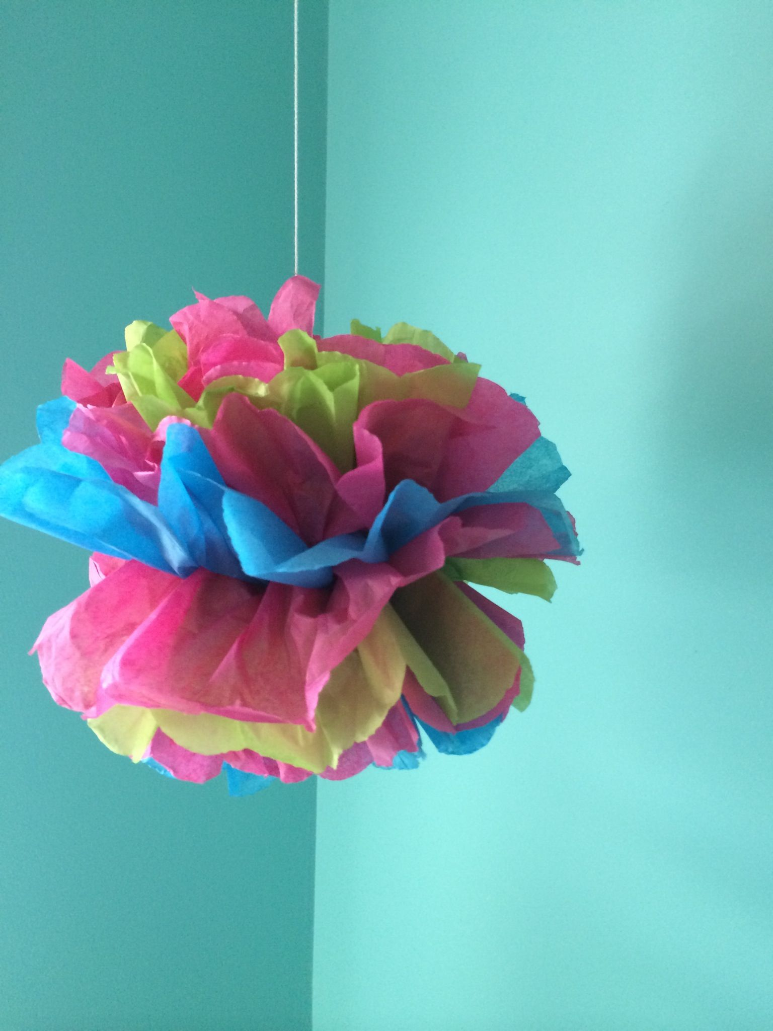 how to make tissue paper pom poms thoughtfully simple - HD1536×2048