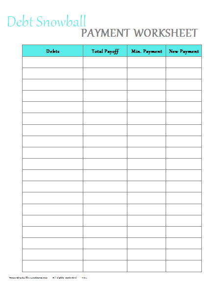 image about Free Printable Debt Payoff Worksheet called Spending Off Your Financial debt and Preserving Budgeting Personal debt snowball