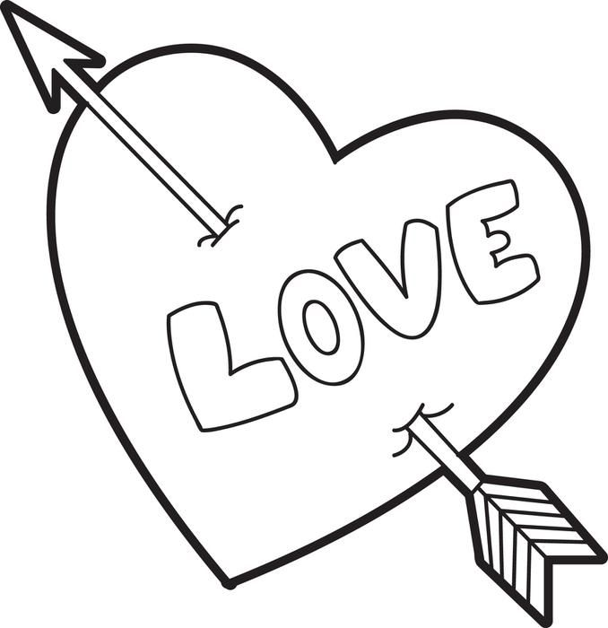valentine heart coloring page - Junie B Jones Coloring Pages