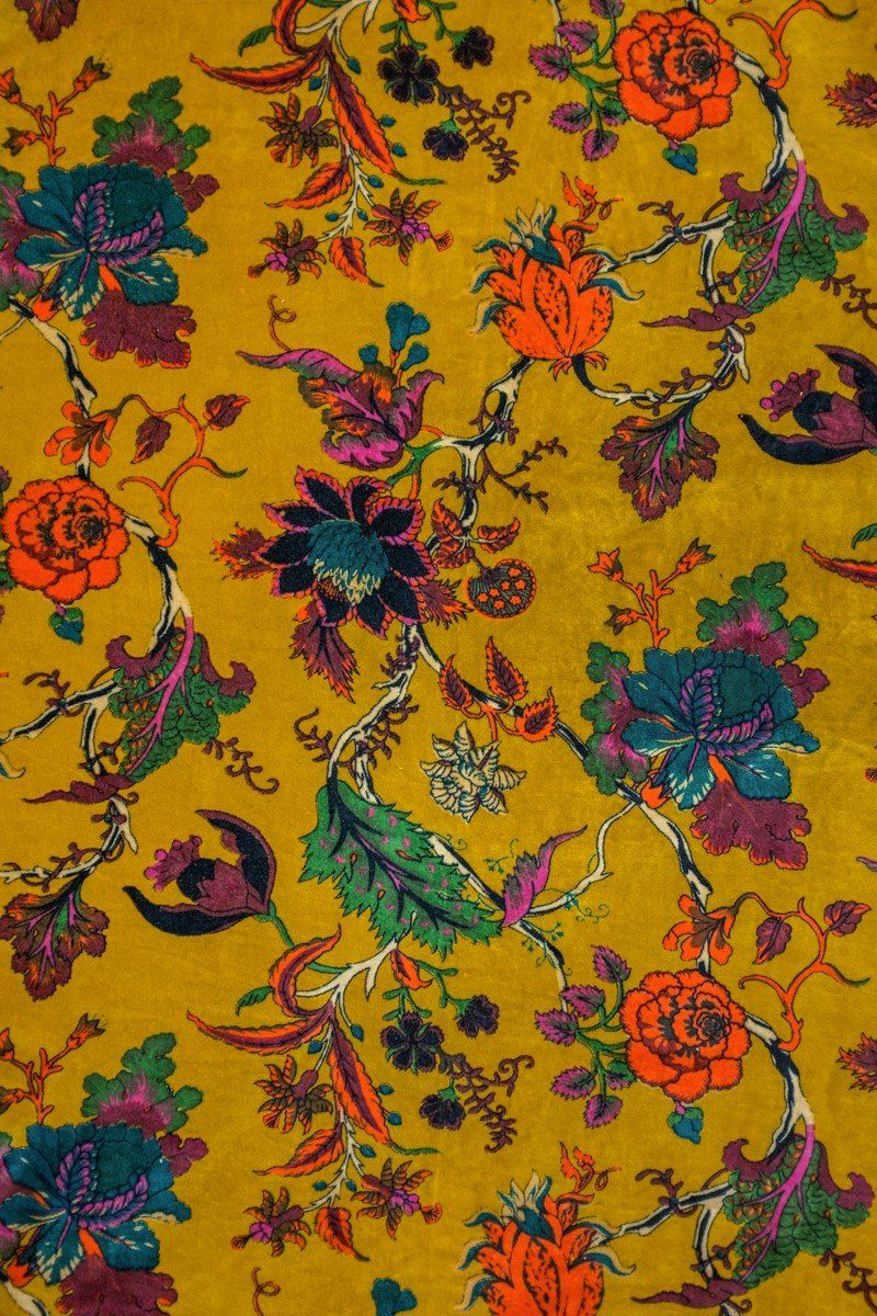 Mustard Tree Of Life Velvet Fabric By The Metre Velvet Upholstery Fabric Tree Of Life Fabric