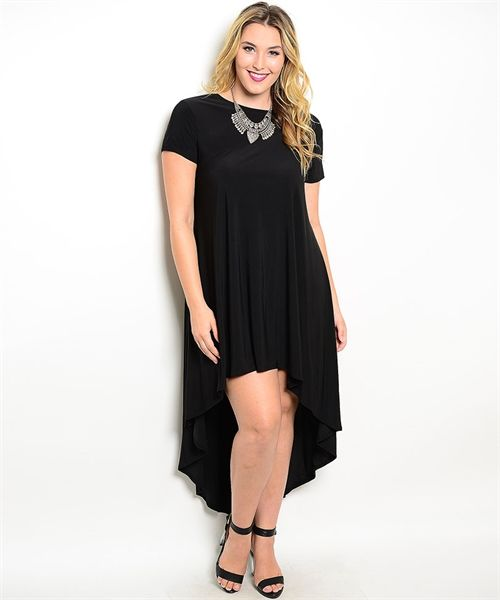 Black High Low Hem Women\'s Plus Size Boutique Dress | Cali ...