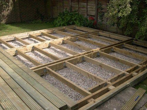 Deck joists beams low level deck - Q-Deck | Backyard | Pinterest ...