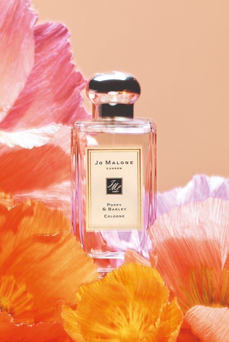 Jo Malone London Poppy Barley While Dancing Across The Meadows Of England A Lively Floral Scent From The Jo Ma Perfume Scents Perfume Perfume Photography