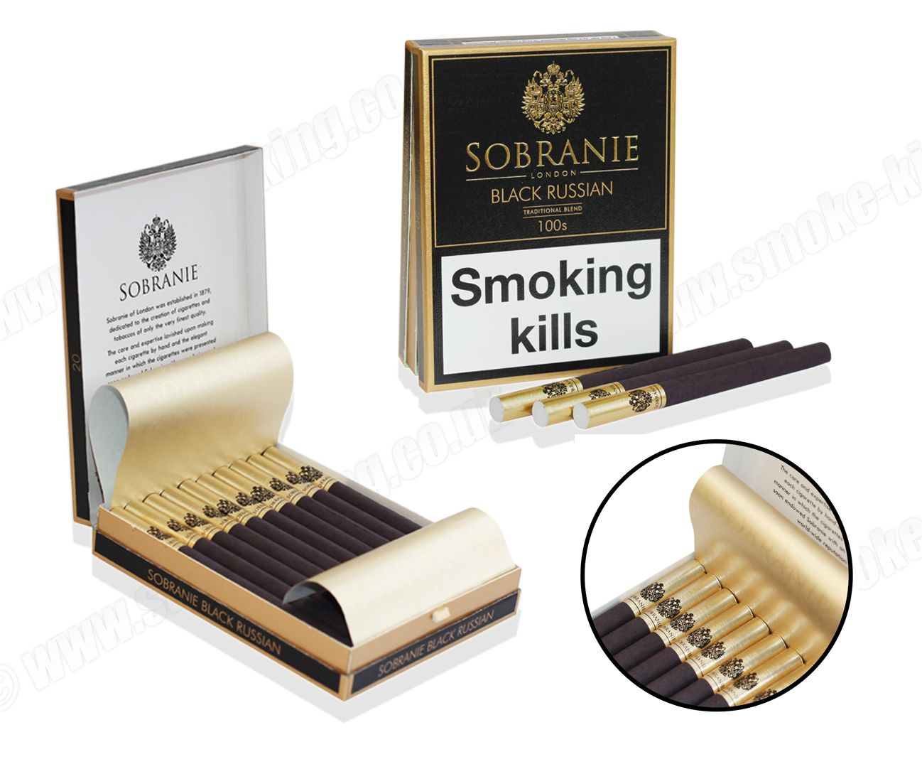 Sobranie Black Russian Cigarettes - Pack of 20 ...