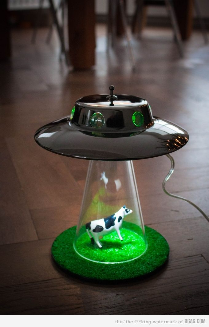 Alien Abduction Lamp Decor Cool Stuff Lamp