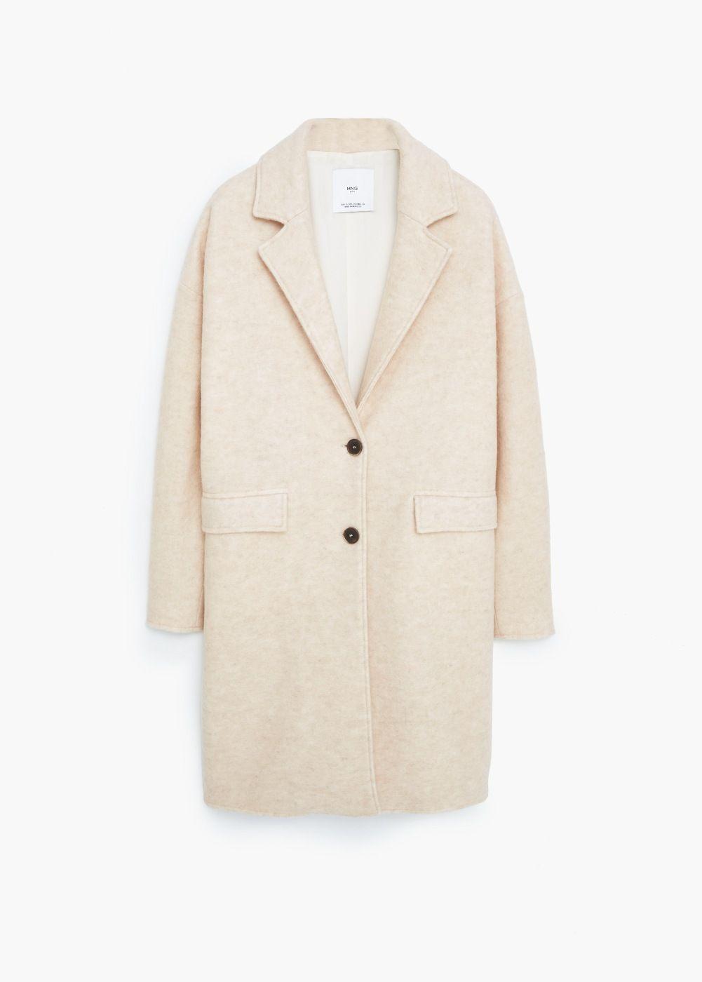 100% authentique meilleur prix date de sortie: Manteau laine revers - Femme