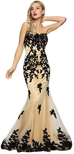 16d62f5f1e65 Meier Women's Strapless Lace Bead Formal Evening Gown | Experience ...