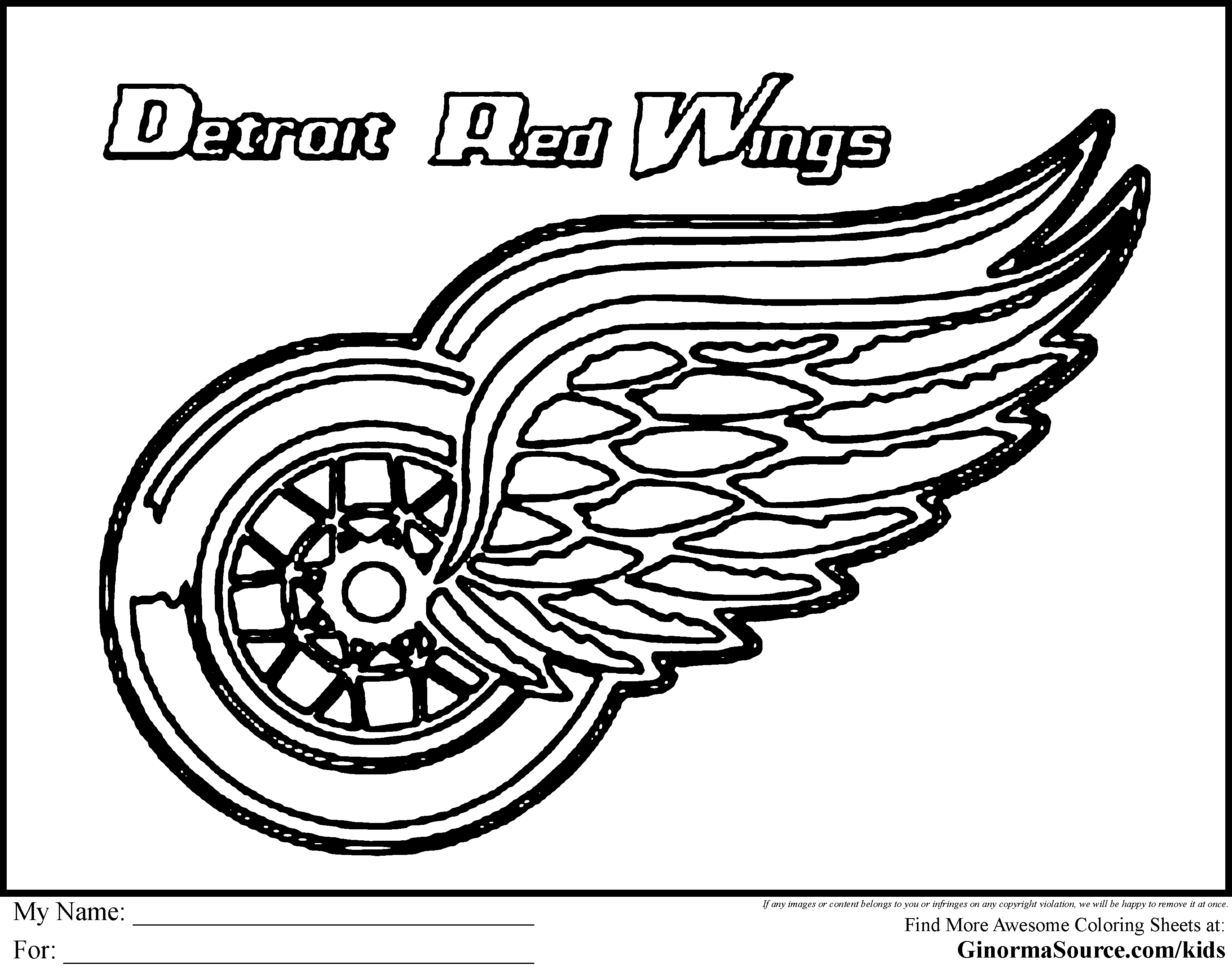 red wing coloring pages - photo#6