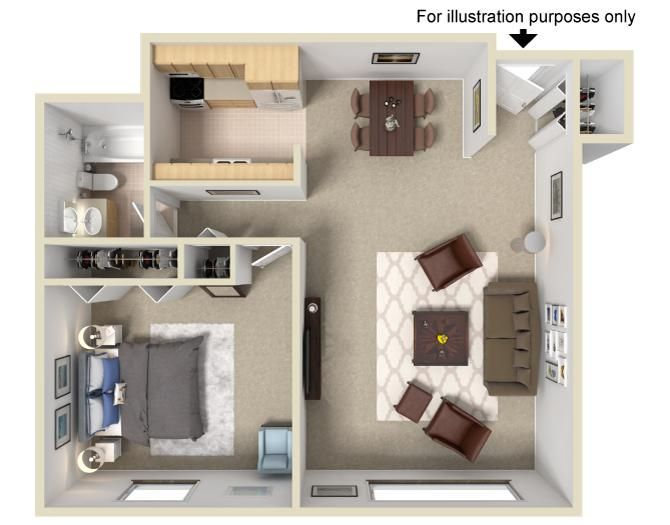 1 Bedroom 1 Bathroom 700 Sq Ft Apartment Communities Apartments For Rent Apartment