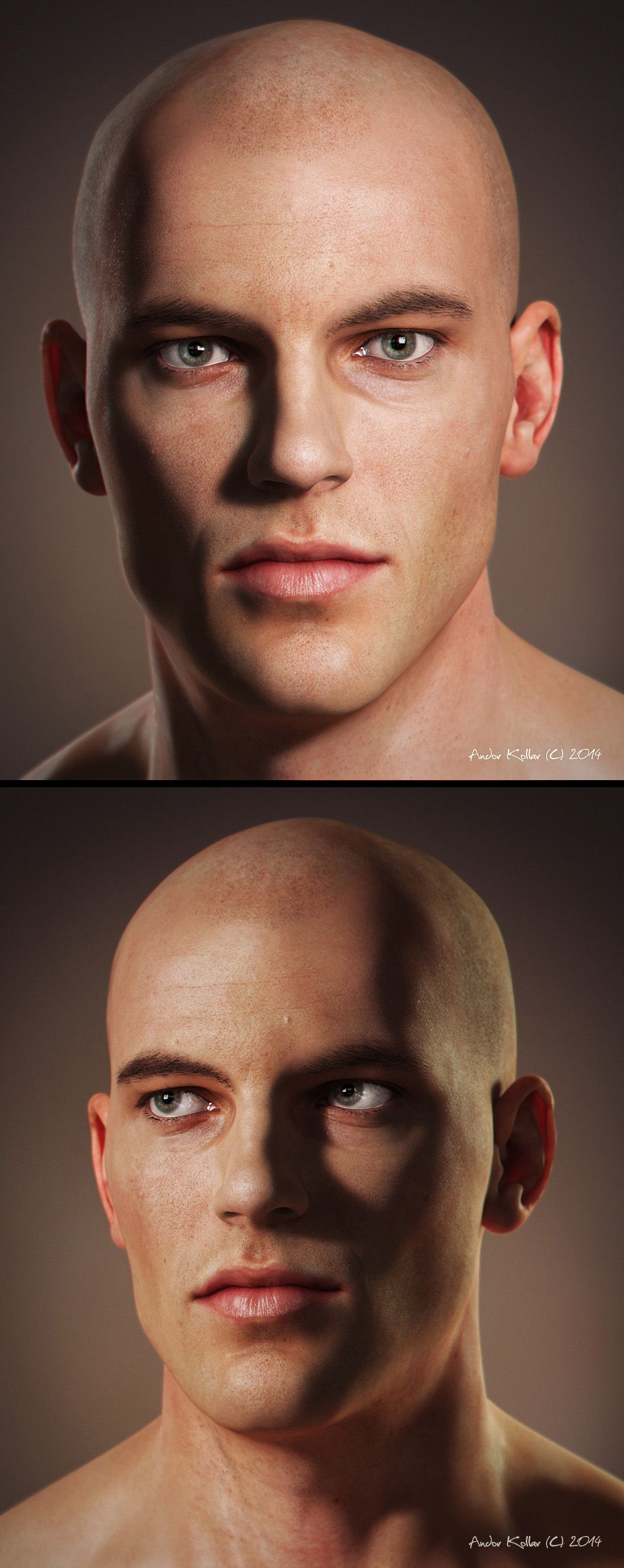Male Head by Andor Kollar 960px X 2410px
