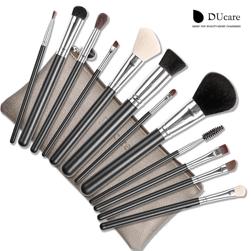 12PCS NATURE BRISTLE BRUSHES WITH BAG Best Price,limited