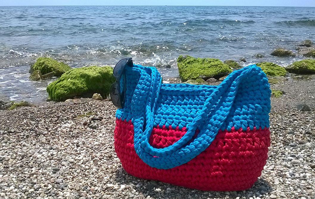 Kit DIY para realizar este bolso de playa de trapillo