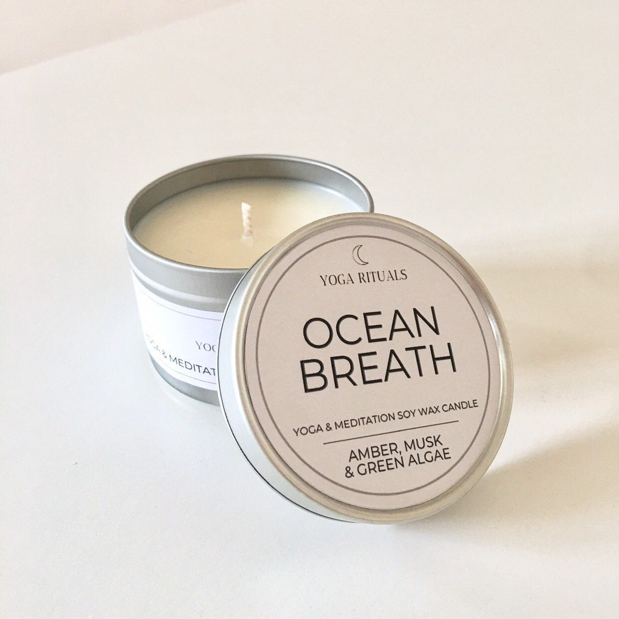 Travel Ocean Breath Natural Soy Candle In A Tin For Yoga