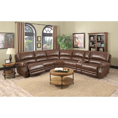 E-Motion Furniture Kyle Power Reclining Sectional. Leather ...  sc 1 st  Pinterest : leather sectional power recliner - Sectionals, Sofas & Couches
