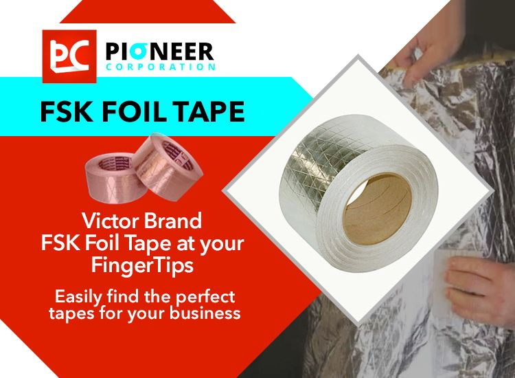 Foil Scrim Kraft Tape Is Used For Sealing Cold And Dual Temperature Duct Seams And Joints Where Fsk Is The Basic Insulation Fa Tape Foil Tape Hot Melt Adhesive