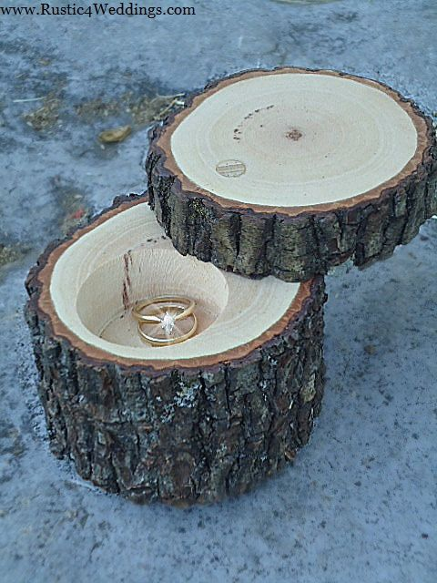 To My Future Husband Please Make This Happen Because Boxes Are Just Boring And Baby Tree Stumps A Ring Box Wedding Rustic Wedding Ring Box Rustic Ring Box