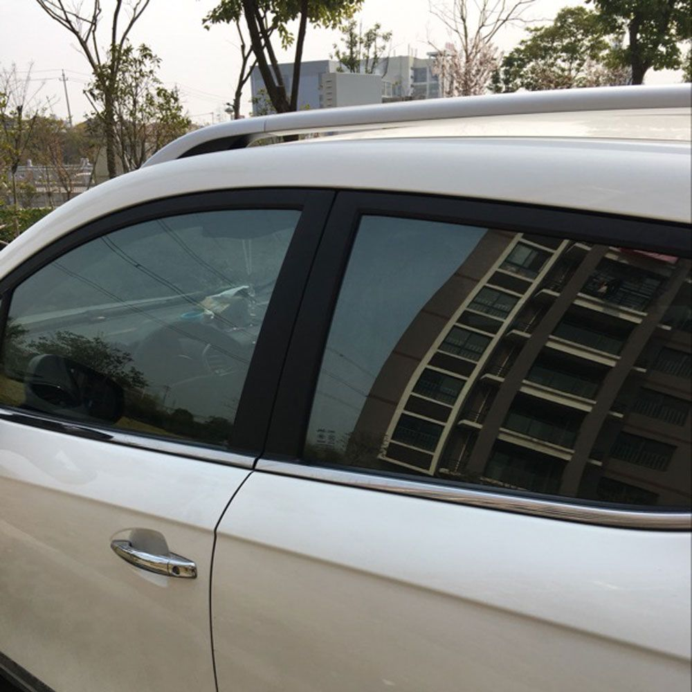 50cmx300cm Light Black Car Window Tint Film Side Glass Window Film Car Auto House Commercial Solar Protect Window