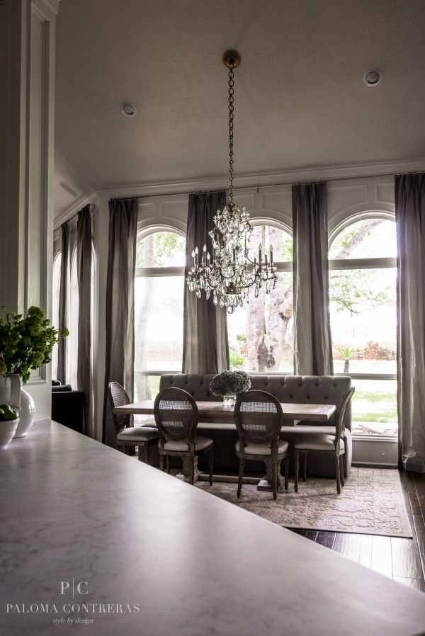 A Glamorous Before After Breakfast Room by Paloma Contreras Design