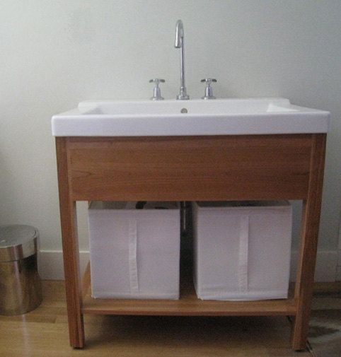 Handmade Bathroom Vanity With Ikea Sink By Ottowoodwork