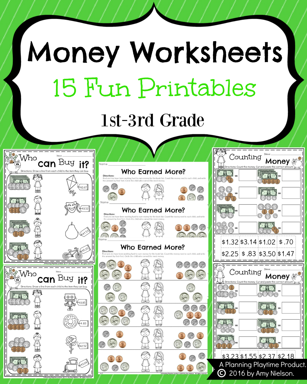 worksheet Cut And Paste Worksheets For 3rd Grade money worksheets for 2nd grade and maths how fun are these count your earnings do