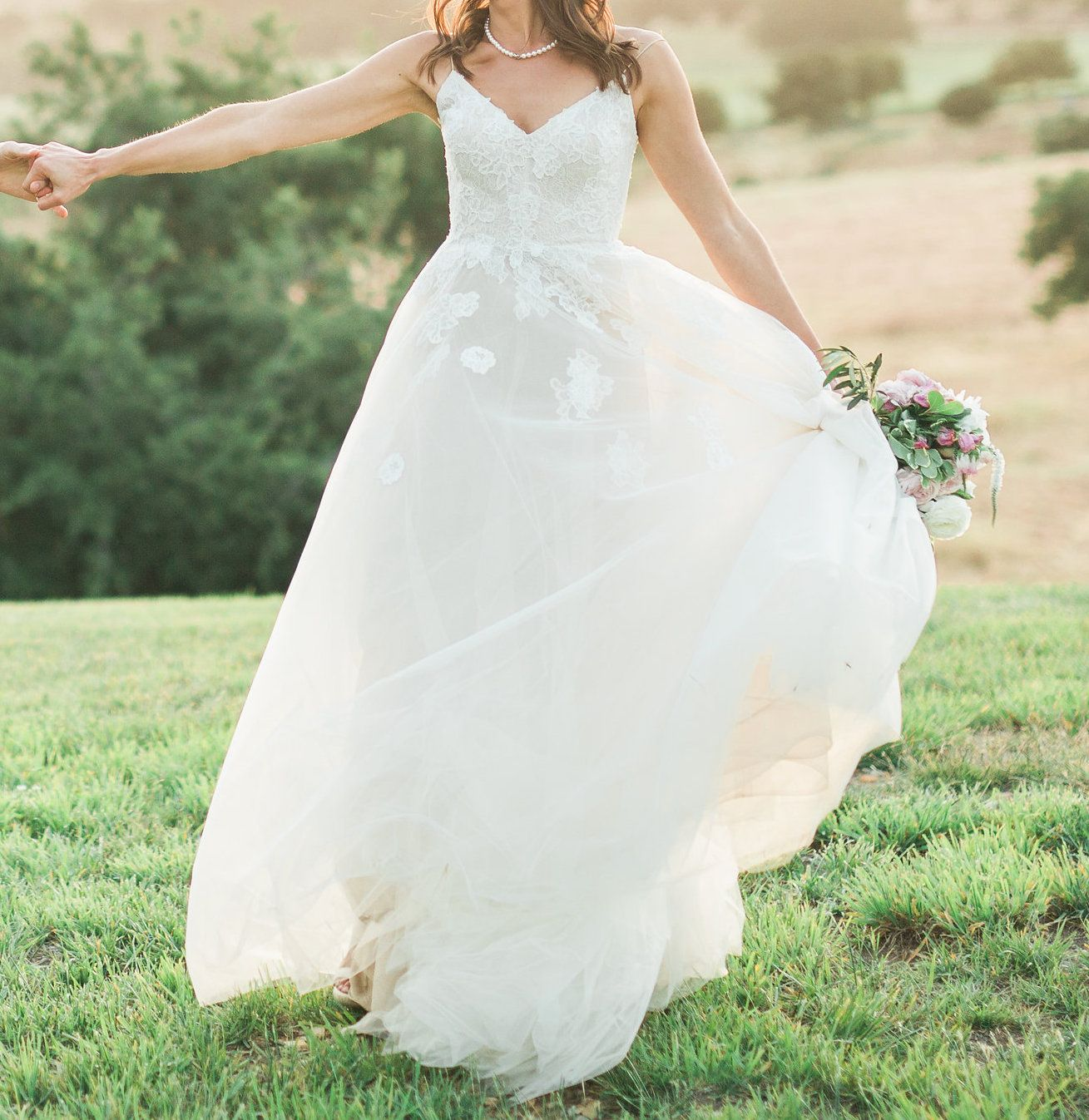 Monique Lhuillier Severine Wedding Dress Used Size 6 2 700
