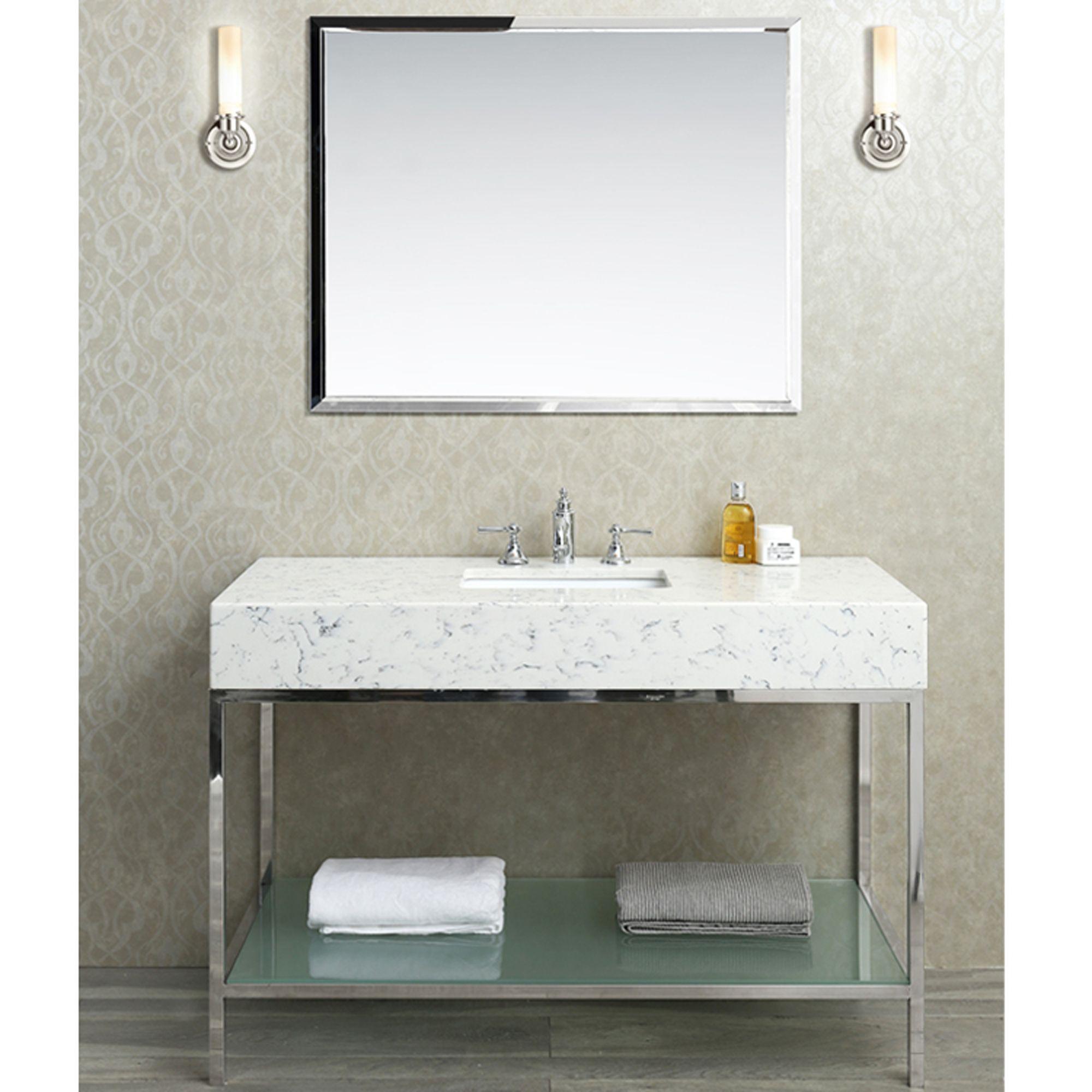 48 Inch Single Sink Bathroom Vanity Set With Quartz Countertop Single Sink Bathroom Vanity Single Sink Vanity Quartz Bathroom Countertops