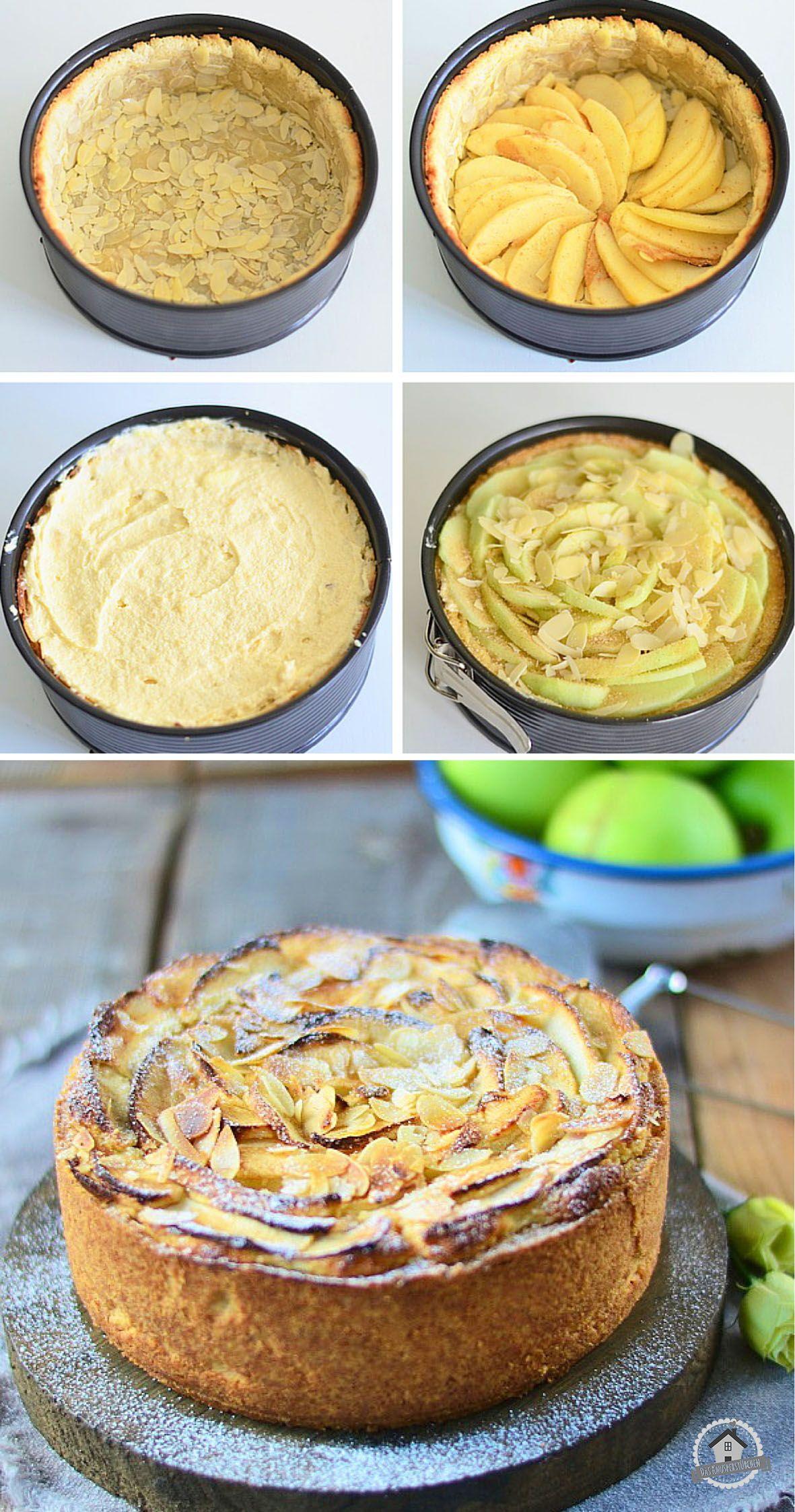 apfel mazarin kuchen apple mazarin cake herbstliche kuchen pinterest. Black Bedroom Furniture Sets. Home Design Ideas