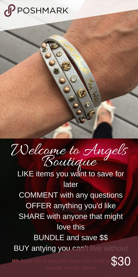 New Good Works 3 strand cuff bracelet