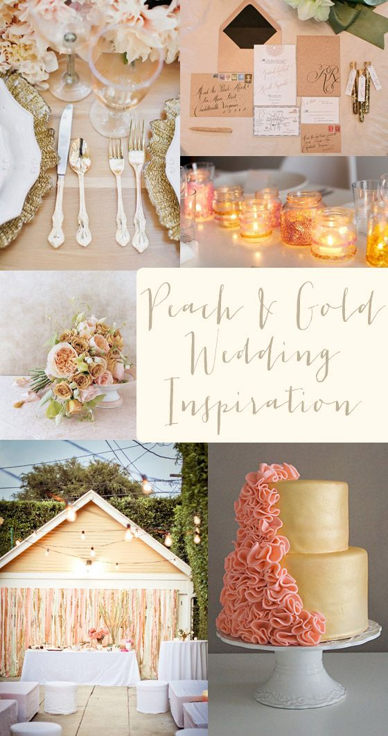 peach and gold wedding color inspiration wedding color