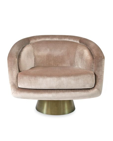 Bacharach Velvet Swivel Chair | Swivel chair and Bench