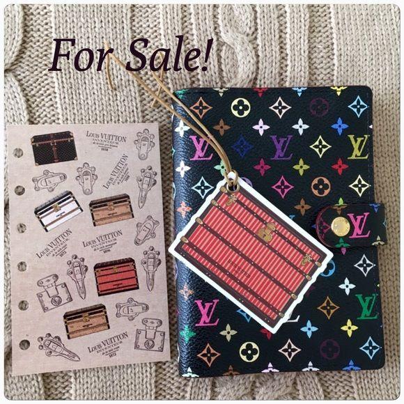 Lv Multicolor Agenda Pm Louis Vuitton Multicolor Agenda Pm Super Rare And Discontinued Preloved In Grea Louis Vuitton Multicolor Louis Vuitton Bag Agenda Pm