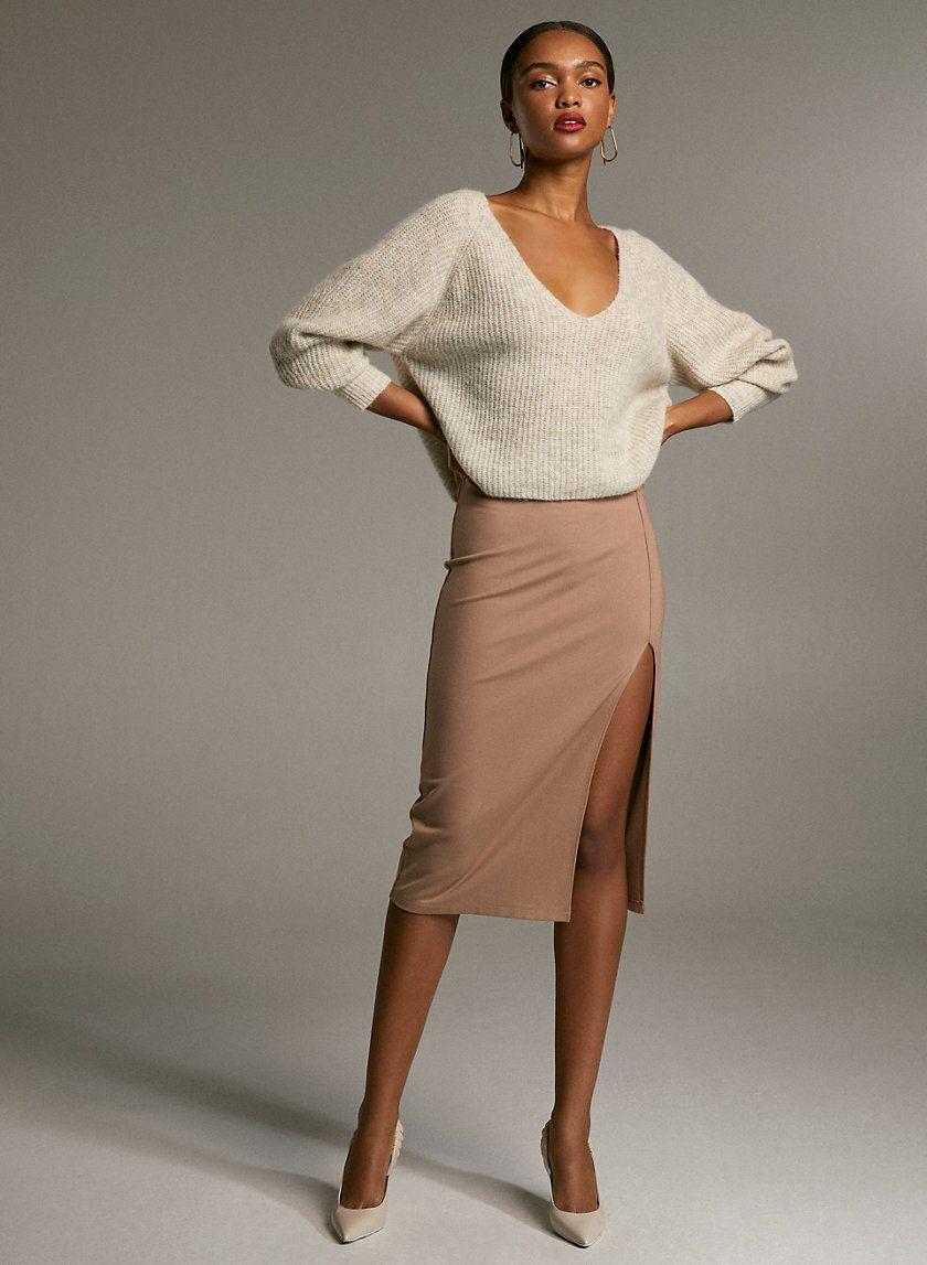 Pencil slit skirt
