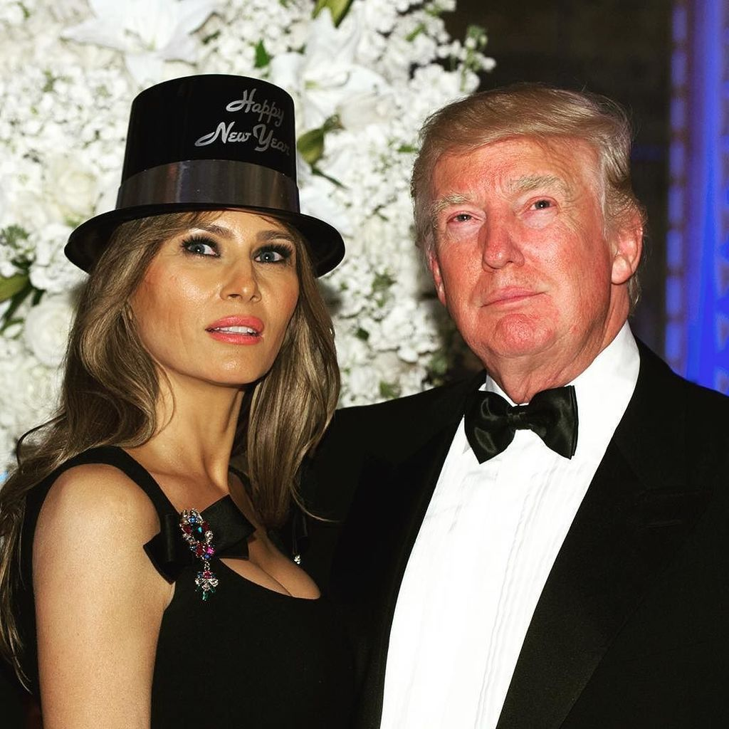 President Trump & First Lady~Melania @ New Year's Eve Party watching the  countdown til