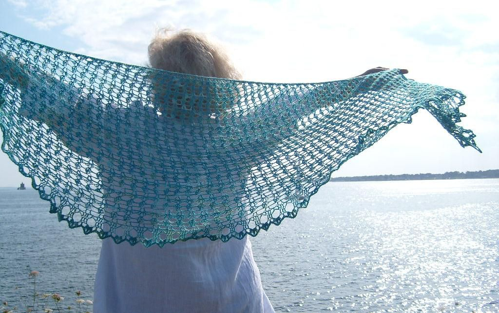 Ravelry: Crochet Crescent Sea Shawl pattern by Kathy Crowell