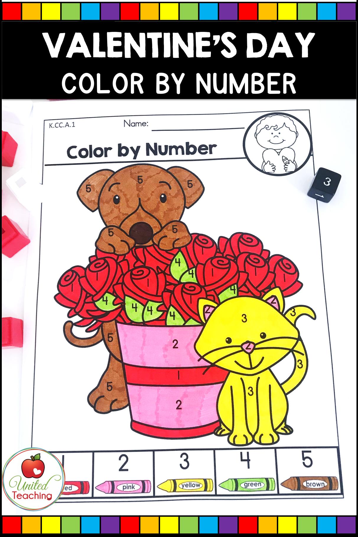 Valentine S Day Math And Literacy Kindergarten No Prep