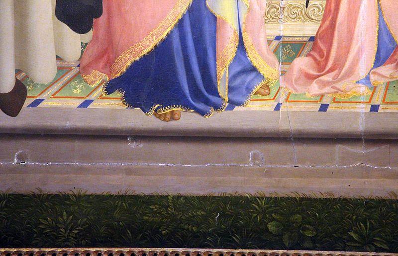 """BEATO ANGELICO - """"Pala di Fiesole"""", dettaglio  - 1424-1425 - tempera su tavola - Fiesole, Chiesa di San Domenico."""