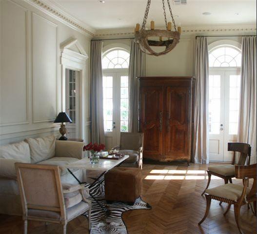 Suzie Magnolia Custom Homes  French Living Room Design With Fair Wood Design Living Room Decorating Inspiration