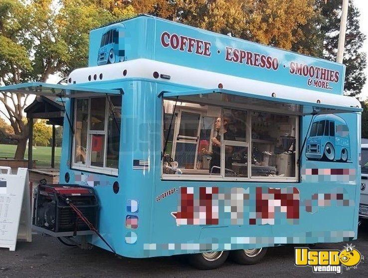 2005 Fiber Core 8 X 12 Coffee Concession Trailer Used Mobile Cafe For Sale In California In 2020 Mobile Coffee Shop Trailers For Sale Concession Trailer
