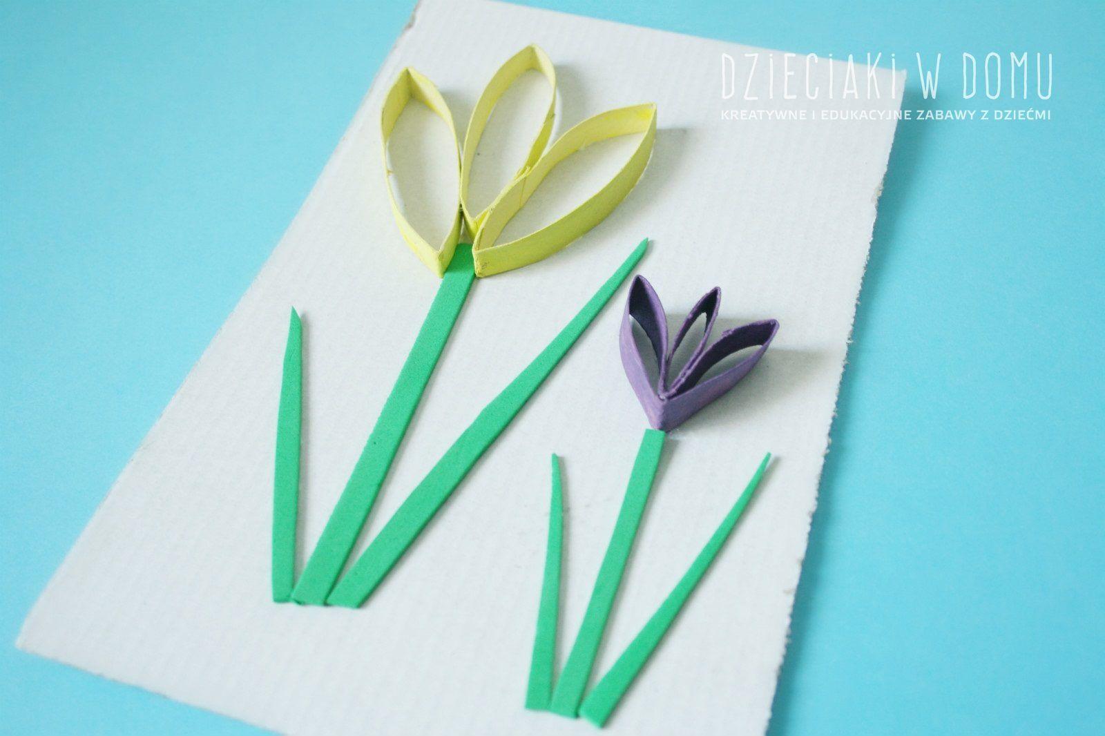 Wiosenne Krokusy I Motylki Z Rolek Dzieciaki W Domu Flower Crafts Spring Crafts For Kids Spring Crafts