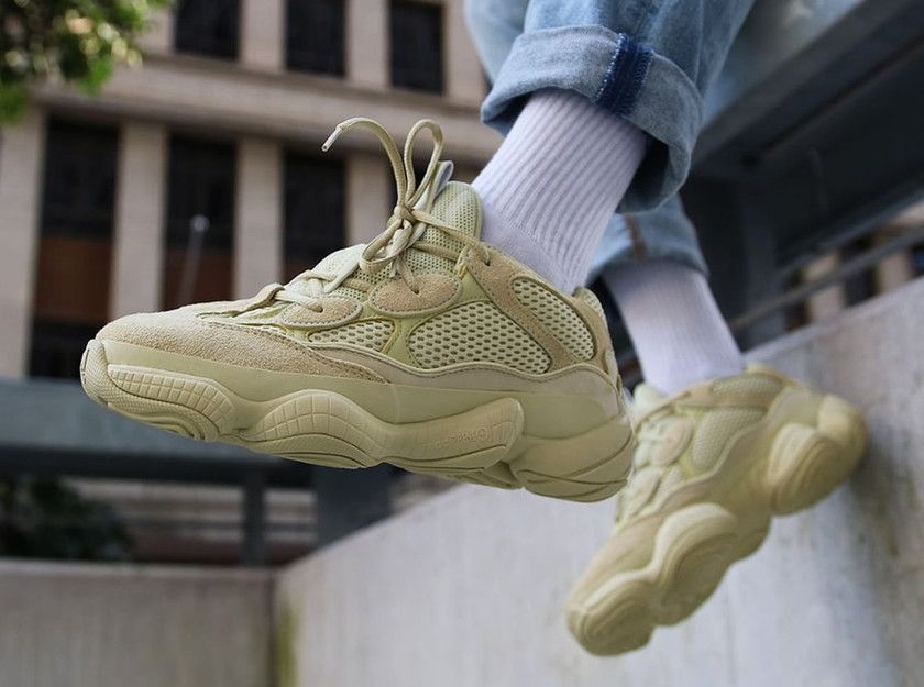 brand new 7f011 2a5df Show you the original materials of the Yeezy 500 SuperMoon ...