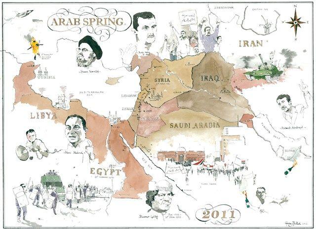 george butler repotage illustrator arab spring map