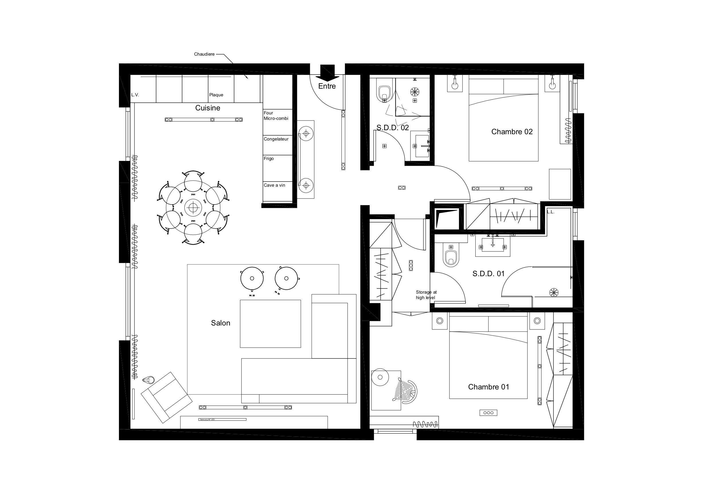 Renovation Cuisine Cannes pin on cad plans